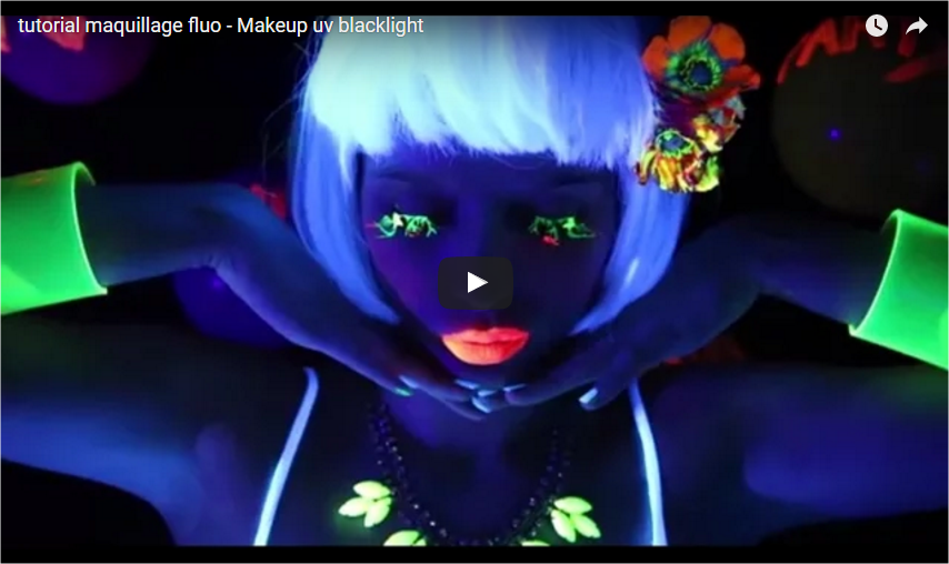 tutoriel blacklight le maquillage fluo party. Black Bedroom Furniture Sets. Home Design Ideas