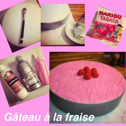 décoration gâteau à la fraise